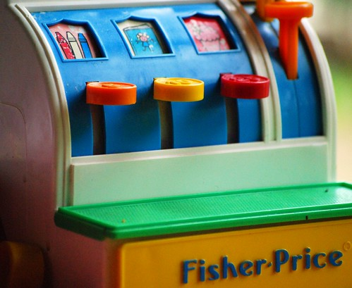 Vintage Fisher Price cash register toy