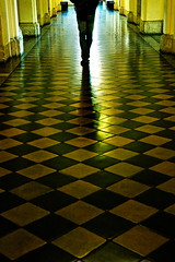 Step by Step (Gilad Benari) Tags: city light shadow urban reflection green art architecture poster israel different floor legs jerusalem stepping checkers  silhoutte  stepbystep   giladbenari  culloms