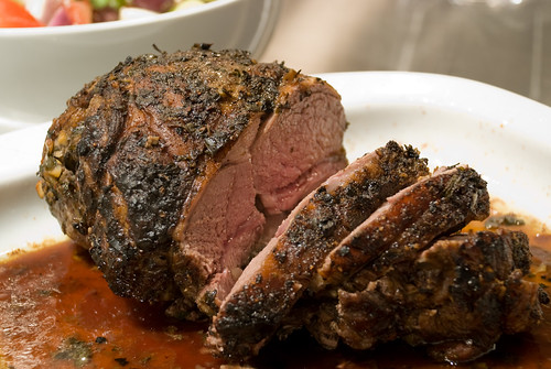 Oregano-Crusted Lamb Cut