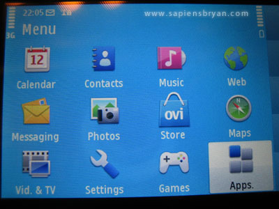 Nokia N97 Software Menu