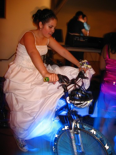 pedal powering a prom for Mission High School