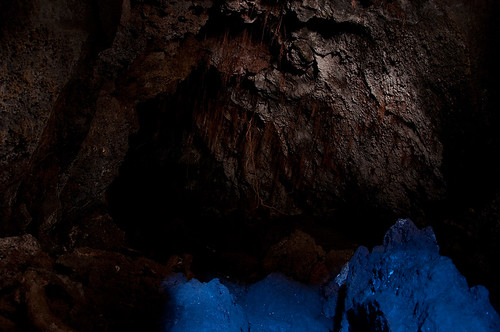 Inside a lava cave - Rangitoto island, NZ