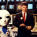 Larry Ross and Scifi Channel mascot