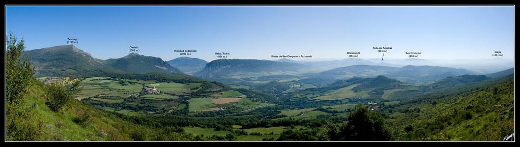 Vistas desde la subida a la cresta norte del Mortxe
