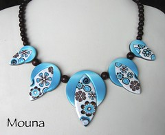 collier dlire de fleuriste (mouna (france)) Tags: collier fimo creation clay artisanal canne polymer polymre pte