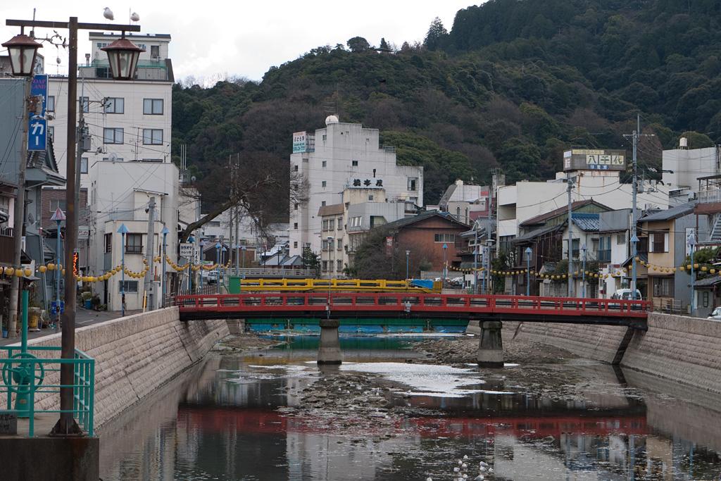 Kanekura river in Kotohira town