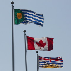 Flags of Vancouver, Canada, and British Columbia (scazon) Tags: vancouver britishcolumbia flag flagofbritishcolumbia flagofcanada flagofvancouver