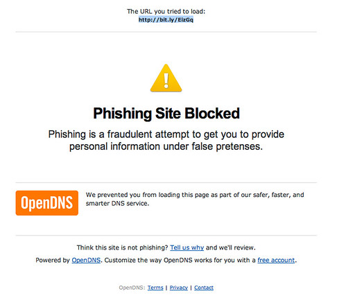 bit.ly Blocked by OpenDNS by psd, on Flickr