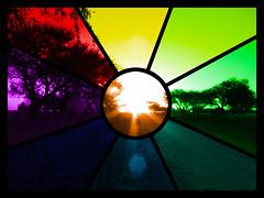 Vitreaux. (Tranquitos) Tags: sunset sun color arcoiris atardecer rainbow colours manipulation colores puestadesol postprocessing coloreado