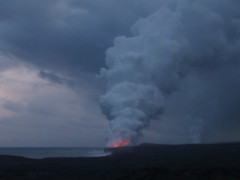 Wow - lava entering the ocean