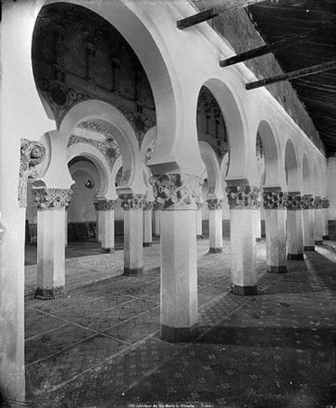 Sinagoga de Santa María la Blanca hacia 1880. Foto Levy