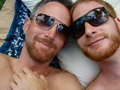 the perfect date - part 2 (redjoe) Tags: nyc newyorkcity light urban man men me smile face sunglasses self hair fur beard ginger hands afternoon sweet centralpark manhattan lips redhead pillow together blanket upperwestside holdinghands freckles date redhair fuzz redjoe joehorvath