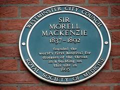 Photo of Morell Mackenzie green plaque