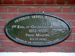 Photo of Herbert Henry Asquith black plaque
