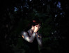 hide (cesarr terrio) Tags: park light red sun canada tree girl leaves night forest project dark hair leaf day branch time quebec vampire montreal daniel branches year hidden hide 365 seek vignette terrio badbodydoubletrouble