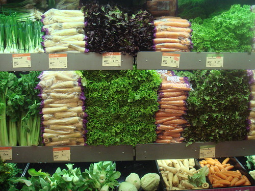 Greens and vegetables at Whole Foods Market, London