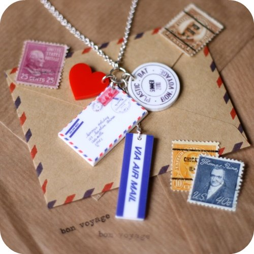 Airmail Cluster Necklace