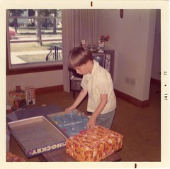 June 23 1972 - James Playing with Hockey Game Present