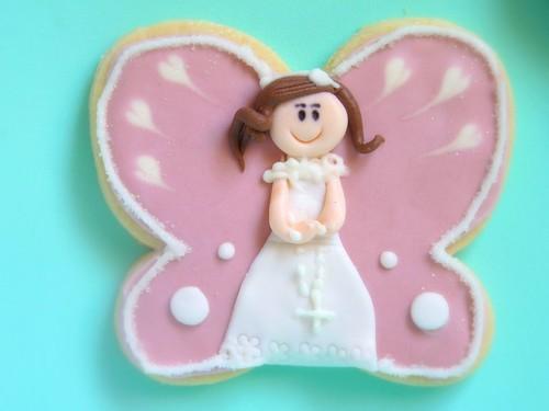 Galleta comunión mariposa1
