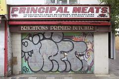 10ft (datachump) Tags: uk foot graffiti brighton ten 10ft 10foot