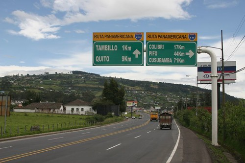 Turning right, thus skipping Quito...
