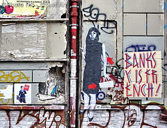 By Jef Aerosol (Photograff92) Tags: streetart paris france pasteup film stencil banksy urbanart pochoir coralie sp38 jefaerosol courtmetrage jeannecherhal cannes2008 nicolasengel lacopiedecoralie banksyisfrench