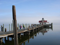 2008 Holiday at OBX 095 (ctk) Tags: family blue sky favorite lighthouse reflection wow wonder nc interesting dock northcarolina sound outerbanks obx