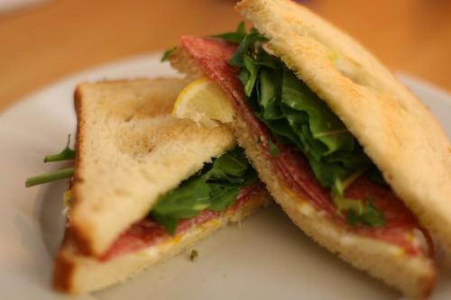 Salami, Arugula & Lemon Sandwich