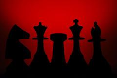 """Piezas de ajedrez (1)"" (Marcelo Savoini) Tags: red contraluz caballo reina rojo nikon king torre queen rey knight rook bishop ajedrez alfil chesspieces piezas d40 20tfpredominanterojo"