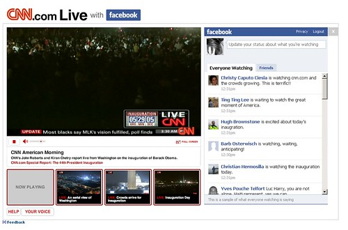 CNN kombinerer live-tv med Facebook