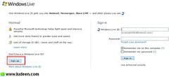 1 วิธีสมัครสมาชิก hotmail เพื่อใช้ MSN