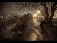 Misty place (Kaj Bjurman) Tags: street winter mist nature fog night dark eos sweden stockholm 5d hdr johan kaj mkii hagaparken cs4 photomatix bjurman