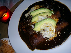 Enchiladas De Mole Poblano - Mole, Lower East Side
