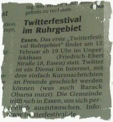 Twitterfestival im Ruhrgebiet