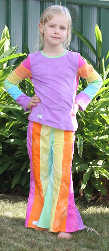 Rainbow Paula Pants & Antonia - front