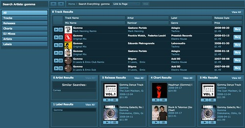 Beatport 3.0 Search Results