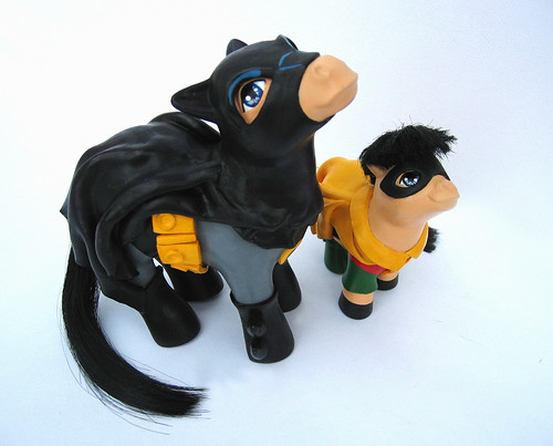 My little pony Batman y Robin