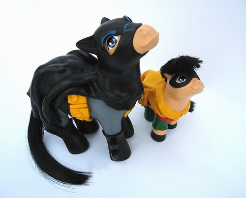 My little pony Batman y Robin