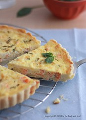 Goat Cheese and Salmon Quiche 3835