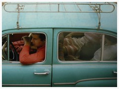 Moscow, USSR (jean penders) Tags: street roof portrait car mobile russia moscow transport documentary cruising rack 1981 vehicle driver passenger volga sovietunion ussr audel  gaz21 21