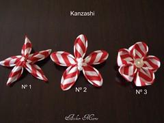Kanzashi - Tentativas