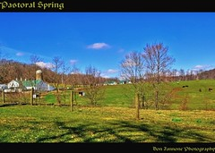 Pastoral Spring (Don Iannone) Tags: trees ohio barn fence countryside spring flickr shadows cattle cows farm bluesky farmland explore pasture hdr ruralarea photomatix malabarfarm thoughtfortheday april2009 centralohio platinumphoto beefcows gpec farmbuidings virginiasatir