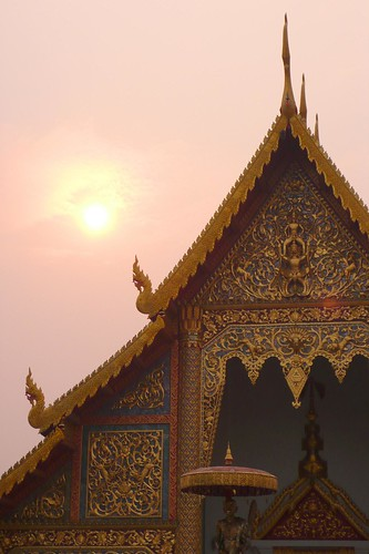 wat jedi luang at sunset, chiang mai