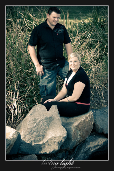 Couple portrait shoot for engagement session at Speers Point Park, Lake Macquarie.