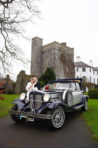 Kildare Barberstown Castle Hotel Straffan Kildare Navy Silver Beauford Wedding Car