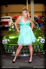 Pinup Model: Deanne in green with a classic retrorod (christopherallisonphotography) Tags: auto california girls portrait woman lamp girl wheel del vintage allison wagon outdoors lights mirror mar model eyes women automobile pretty surf dolls dress panel legs sandiego good sony engine woody guys lips retro tires bumper chrome oceanside lincoln rockabilly hood motor alpha gals nationals pinup turf delmar roadster kustom a300 white carclub classic cars car san christopher kustomkulture hot show diego photography light rod wall natural kustomculture laroadster carhoodgirl
