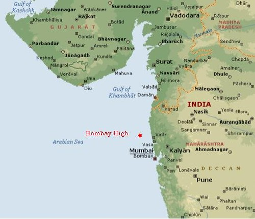 the bombay high offshore oilfield, the setting of our story