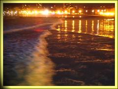 Reflejos en el mar -reflections in the sea. ARGENTINA (hmlaplata) Tags: sea water argentina landscape noche google agua nigth mardelplata reflejos hmlaplata