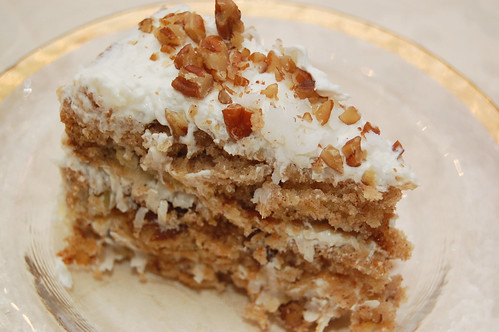 hummingbird cake slice