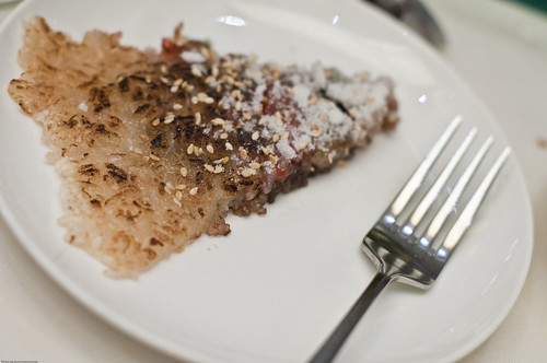 I love this dessert with its dried berries and powered sugar.